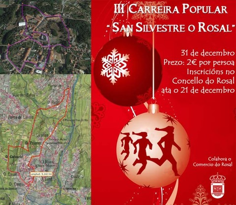 Infominho -  O Rosal acolle o día de fin de ano a terceira edición da San Silvestre - INFOMIÑO - Informacion y noticias del Baixo Miño y Alrededores.