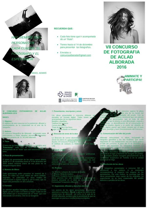 Infominho - A Comunidade Terapéutica Alborada, de Tomiño, organiza o seu sétimo concurso de fotografía - INFOMIÑO - Informacion y noticias del Baixo Miño y Alrededores.