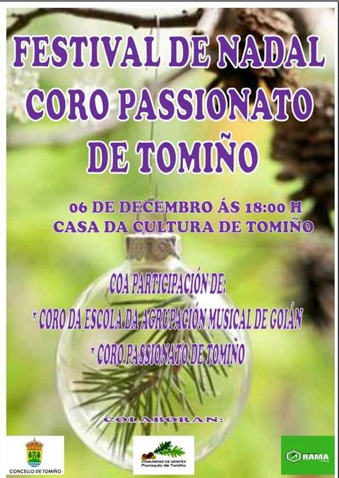 Infominho -  Festival de Nadal do Coro Passionato de Tomiño o 6 de decembro - INFOMIÑO - Informacion y noticias del Baixo Miño y Alrededores.