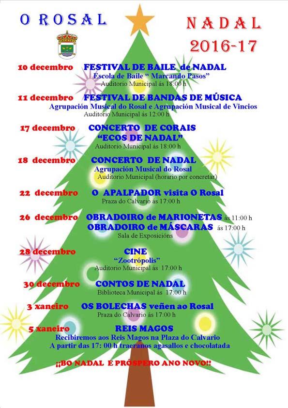 Infominho -  O Rosal presenta a programación de Nadal 2016-17 con 10 eventos programados - INFOMIÑO - Informacion y noticias del Baixo Miño y Alrededores.