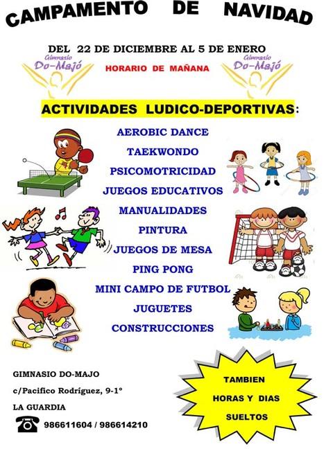 Infominho -  Campamento de Navidad en el Gimnasio DO-MAJO de La Guardia - INFOMIÑO - Informacion y noticias del Baixo Miño y Alrededores.