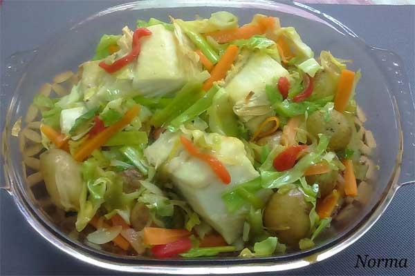 Infominho - Receta: Bacalao al horno con verduras - INFOMIÑO - Informacion y noticias del Baixo Miño y Alrededores.