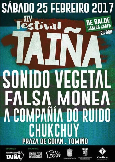 Infominho - A XIV edición do Festival Taiña volta a Goián este sábado - INFOMIÑO - Informacion y noticias del Baixo Miño y Alrededores.