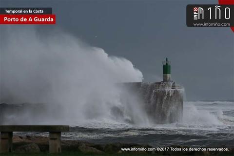 Infominho - El primer gran temporal del año se deja sentir con fuerza en la costa gallega - INFOMIÑO - Informacion y noticias del Baixo Miño y Alrededores.