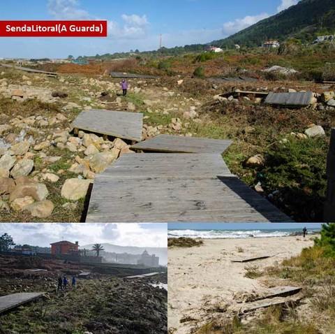 Infominho - La Senda Litoral también sufrió los efectos del temporal en A Guarda - INFOMIÑO - Informacion y noticias del Baixo Miño y Alrededores.