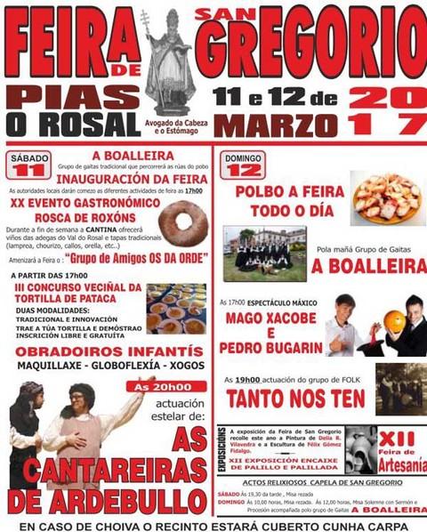Infominho - A Feira de San Gregorio chega a Pías-O Rosal esta fin de semana - INFOMIÑO - Informacion y noticias del Baixo Miño y Alrededores.