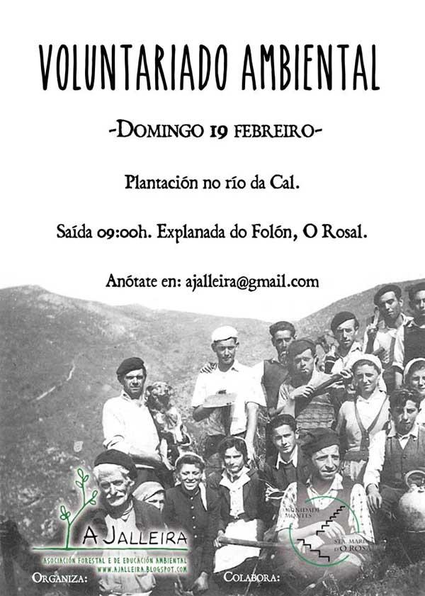 Infominho - A Jalleira y la Comunidad de Montes de O Rosal organizan el 19 de febrero una nueva Jornada de Voluntariado Ambiental - INFOMIÑO - Informacion y noticias del Baixo Miño y Alrededores.