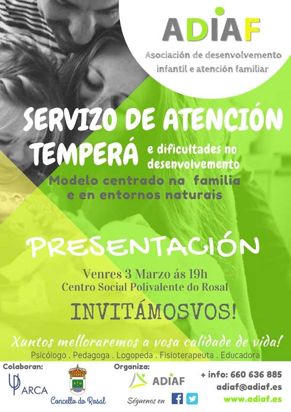 Infominho -  A Asociación de Desenvolvemento Infantil e Atención Familiar ADIAF preséntase o 3 de marzo no Rosal - INFOMIÑO - Informacion y noticias del Baixo Miño y Alrededores.
