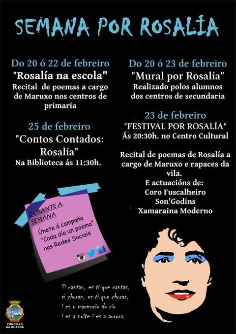 Infominho -  O Concello da Guarda celebra o 180º aniversario do nacemento de Rosalía de Castro coa -Semana por Rosalía- - INFOMIÑO - Informacion y noticias del Baixo Miño y Alrededores.