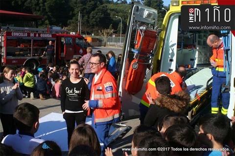Infominho -  Especial – Alumnos del CEIP A Sangriña de A Guarda asisten a una jornada sobre emergencias - INFOMIÑO - Informacion y noticias del Baixo Miño y Alrededores.