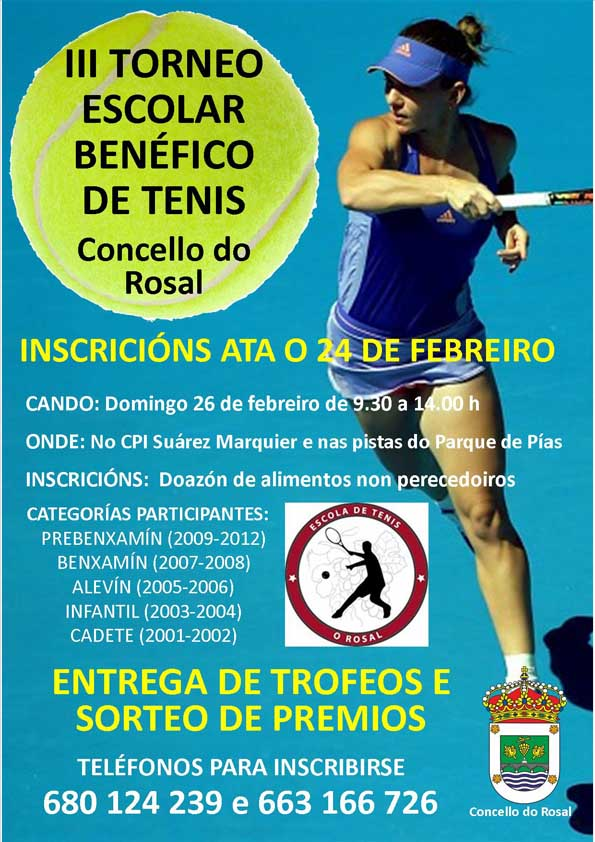 Infominho -  O III Torneo escolar de tenis do Concello do Rosal terá lugar este sábado - INFOMIÑO - Informacion y noticias del Baixo Miño y Alrededores.