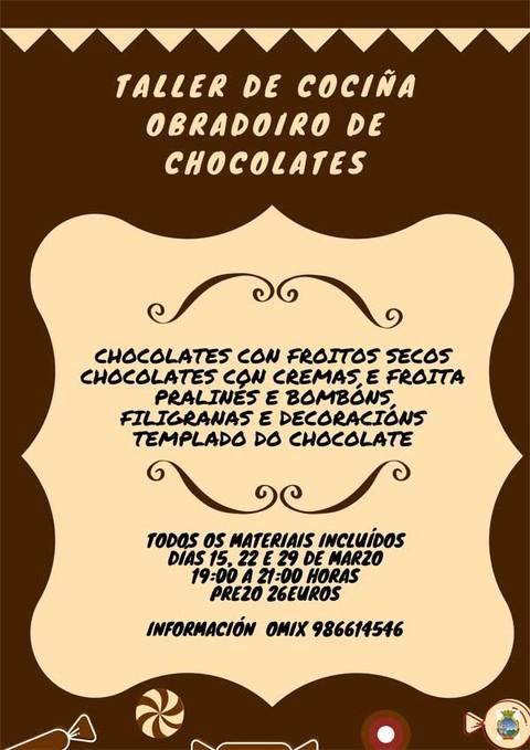 Infominho -  A OMIX da Guarda organiza un obradoiro de cociña sobre a elaboración de chocolates  - INFOMIÑO - Informacion y noticias del Baixo Miño y Alrededores.