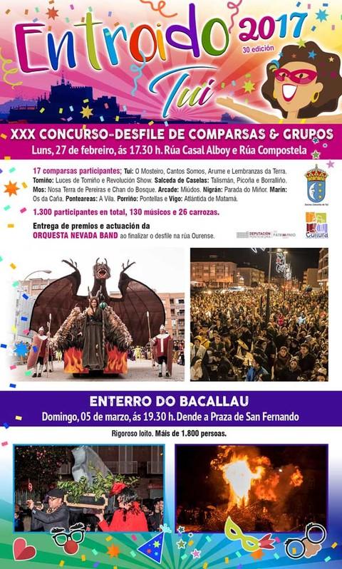 Infominho -  -APRAZADO- Máis de 1.500 mil persoas desfilarán este luns na trixésima edición do Concurso-Desfile de Entroido en Tui - INFOMIÑO - Informacion y noticias del Baixo Miño y Alrededores.