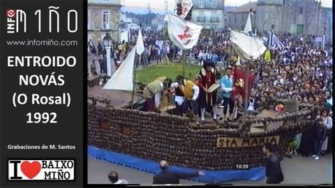 Infominho -  Así se vivían los Carnavales en Novás (O Rosal) en 1992 - INFOMIÑO - Informacion y noticias del Baixo Miño y Alrededores.