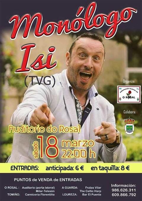 Infominho - A Agrupación Musical do Rosal organiza un Monólogo con ISI(TVG) este sábado - INFOMIÑO - Informacion y noticias del Baixo Miño y Alrededores.