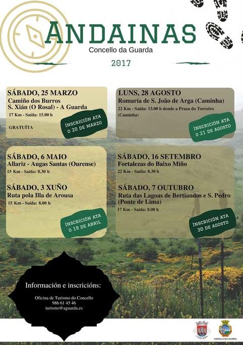 Infominho - Aberto o prazo para inscribirse na primeira das andainas organizadas polo Concello da Guarda para este ano   - INFOMIÑO - Informacion y noticias del Baixo Miño y Alrededores.