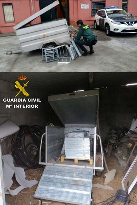 Infominho - La Guardia Civil recupera un remolque cargado de arquetas metálicas sustraído en O Rosal - INFOMIÑO - Informacion y noticias del Baixo Miño y Alrededores.