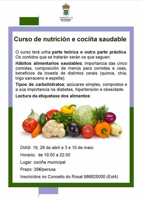Infominho - Abertas as inscripcións para o Curso de Nutrición e Cociña Saudable no Rosal - INFOMIÑO - Informacion y noticias del Baixo Miño y Alrededores.