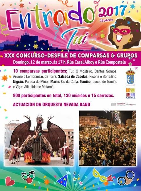 Infominho - Tui celebra este domingo o Desfile-Concurso de Entroido coa participación de 10 comparsas e máis de 800 persoas - INFOMIÑO - Informacion y noticias del Baixo Miño y Alrededores.