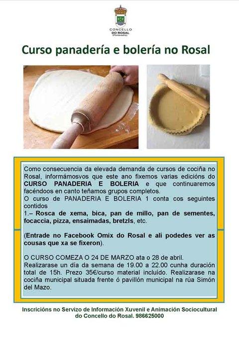 Infominho - Curso de panadería e bolería no Rosal - INFOMIÑO - Informacion y noticias del Baixo Miño y Alrededores.