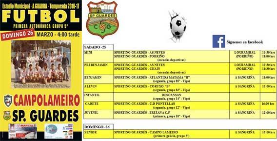 Infominho - Partidos del Sporting Guardés en este fin de semana - INFOMIÑO - Informacion y noticias del Baixo Miño y Alrededores.