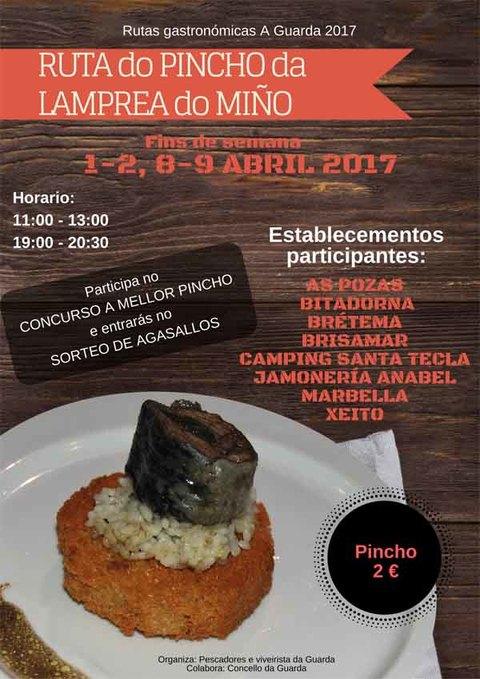 Infominho - A -Ruta do pincho da lamprea do Miño- regresa a A Guarda en Abril - INFOMIÑO - Informacion y noticias del Baixo Miño y Alrededores.