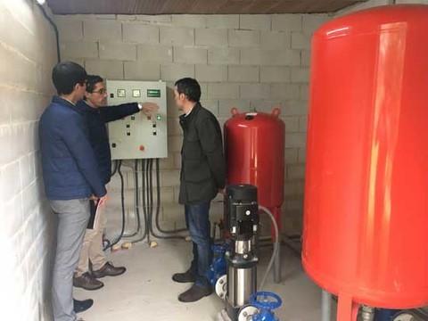 Infominho -  O Consorcio de Augas do Louro constrúe un novo depósito de auga potable no barrio do monte en Caldelas, Tui - INFOMIÑO - Informacion y noticias del Baixo Miño y Alrededores.