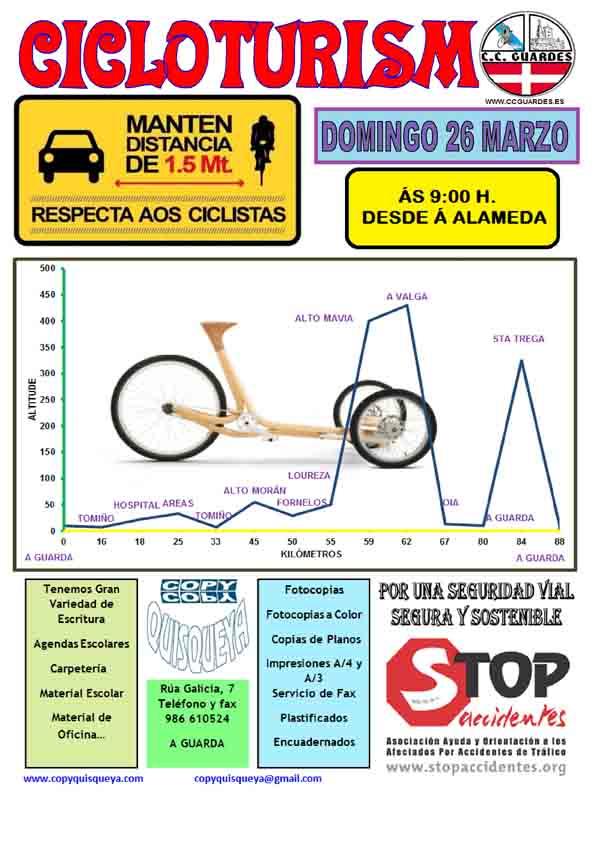 Infominho - Salida del Club Ciclista Guardés este domingo 26 de marzo - INFOMIÑO - Informacion y noticias del Baixo Miño y Alrededores.