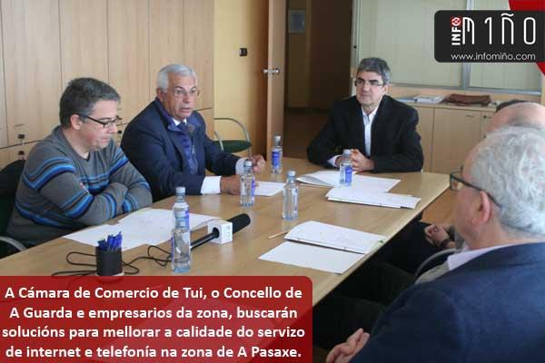 Infominho - Empresarios de A Pasaxe en Camposancos(A Guarda) reclaman melloras nas infraestruturas de comunicación - INFOMIÑO - Informacion y noticias del Baixo Miño y Alrededores.