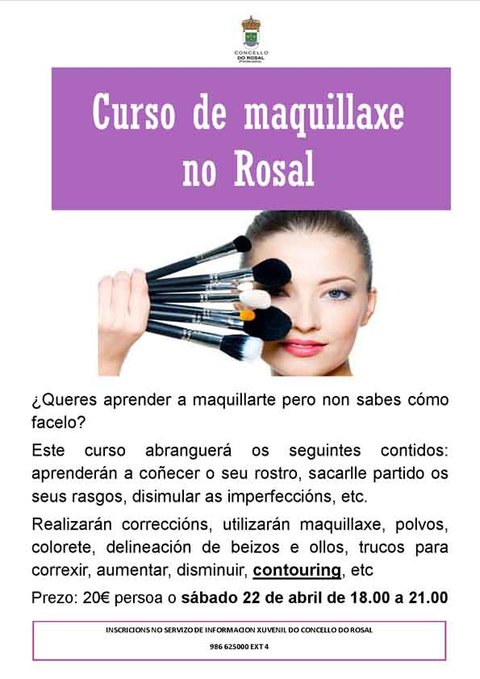 Infominho - O Concello do Rosal organiza un Curso de Maquillaxe en Abril - INFOMIÑO - Informacion y noticias del Baixo Miño y Alrededores.