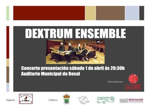 Infominho - O cuarteto de saxofóns -Dextrum Ensemble- realizan este sábado o seu concerto de presentación no Rosal - INFOMIÑO - Informacion y noticias del Baixo Miño y Alrededores.