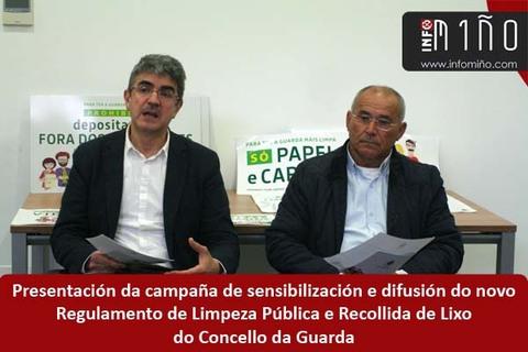 Infominho -  O Concello da Guarda presentou a súa campaña de sensibilización e difusión do novo Regulamento do Lixo - INFOMIÑO - Informacion y noticias del Baixo Miño y Alrededores.