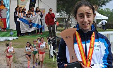 Infominho -  A atleta guardesa Elsa Pena acada a 5ª posición no Campionato de España de Cross - INFOMIÑO - Informacion y noticias del Baixo Miño y Alrededores.