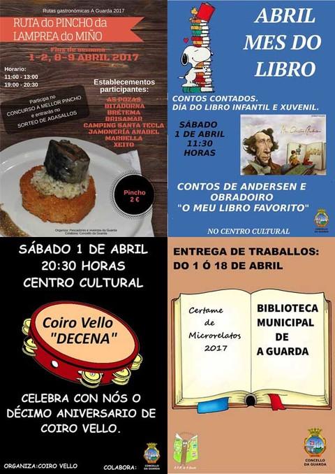 Infominho -  Citas coa música, cultura e a gastronomía completan a ampla axenda da primeira fin de semana de abril na Guarda - INFOMIÑO - Informacion y noticias del Baixo Miño y Alrededores.