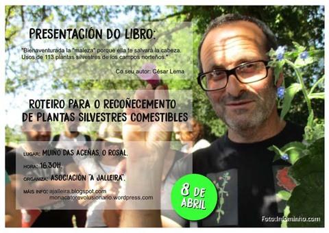 Infominho - A Jalleira organiza este sábado no Rosal unha presentación dun libro e un roteiro sobre plantas silvestres comestibles - INFOMIÑO - Informacion y noticias del Baixo Miño y Alrededores.