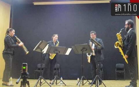 Infominho - O cuarteto de saxofóns -Dextrum Ensemble- presentouse o pasado sábado no Rosal - INFOMIÑO - Informacion y noticias del Baixo Miño y Alrededores.