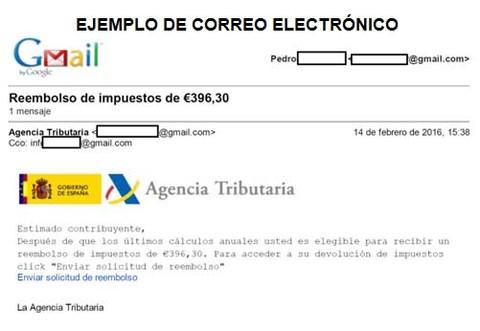 Infominho - La Guardia Civil alerta sobre una campaña de phishing simulando ser la Agencia Tributaria - INFOMIÑO - Informacion y noticias del Baixo Miño y Alrededores.