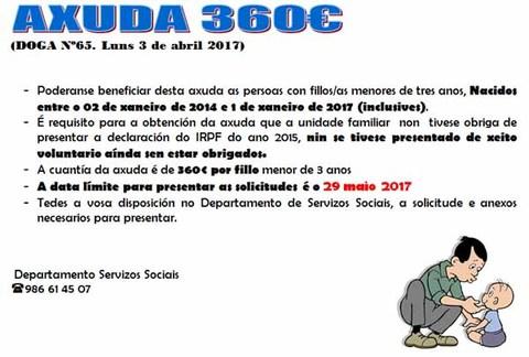 Infominho - Aberto o prazo para solicitar a prestación económica de pagamento único para fillas e fillos menores de tres anos para o ano 2017 - INFOMIÑO - Informacion y noticias del Baixo Miño y Alrededores.