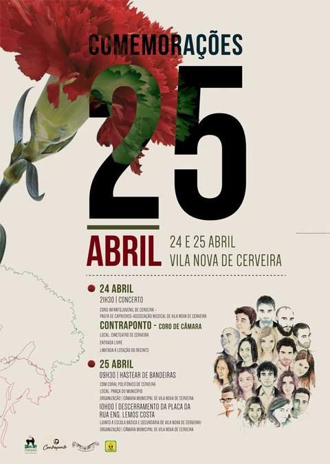 Infominho - Música e homenagem assinalam comemorações do 25 de Abril - INFOMIÑO - Informacion y noticias del Baixo Miño y Alrededores.