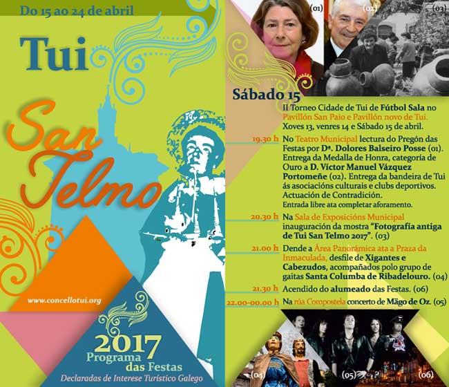 Infominho - Programación sábado 15 de Abril - Festas de San Telmo 2017 - INFOMIÑO - Informacion y noticias del Baixo Miño y Alrededores.