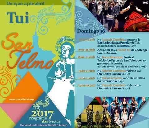 Infominho - Programación domingo 16 de Abril - Festas de San Telmo 2017 - INFOMIÑO - Informacion y noticias del Baixo Miño y Alrededores.