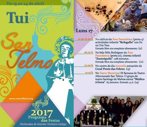 Infominho - Programación luns 17 de Abril - Festas de San Telmo 2017 - INFOMIÑO - Informacion y noticias del Baixo Miño y Alrededores.