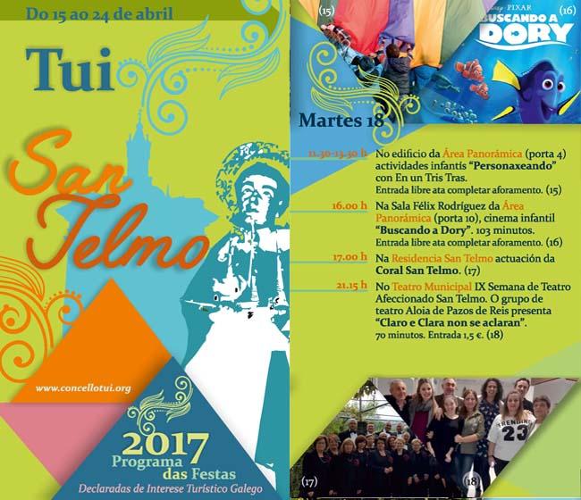 Infominho - Programación martes 18 de Abril - Festas de San Telmo 2017 - INFOMIÑO - Informacion y noticias del Baixo Miño y Alrededores.