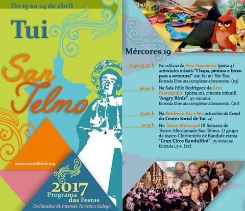 Infominho - Programación mércores 19 de Abril - Festas de San Telmo 2017 - INFOMIÑO - Informacion y noticias del Baixo Miño y Alrededores.