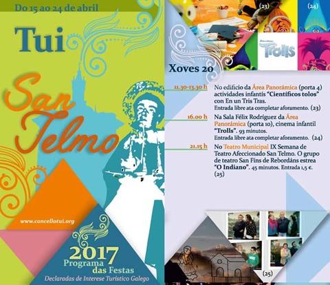 Infominho - Programación xoves 20 de Abril - Festas de San Telmo 2017 - INFOMIÑO - Informacion y noticias del Baixo Miño y Alrededores.