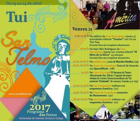 Infominho - Programación venres 21 de Abril - Festas de San Telmo 2017 - INFOMIÑO - Informacion y noticias del Baixo Miño y Alrededores.