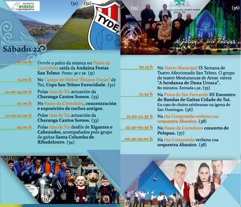 Infominho - Programación sábado 22 de Abril - Festas de San Telmo 2017 - INFOMIÑO - Informacion y noticias del Baixo Miño y Alrededores.