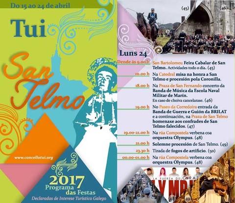 Infominho - Programación luns 24 de Abril - Festas de San Telmo 2017 - INFOMIÑO - Informacion y noticias del Baixo Miño y Alrededores.