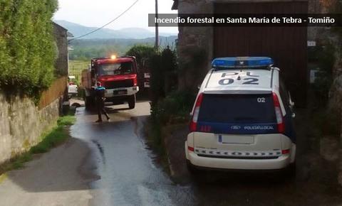 Infominho - Sofocado un pequeño incendio forestal en Santa María de Tebra-Tomiño - INFOMIÑO - Informacion y noticias del Baixo Miño y Alrededores.