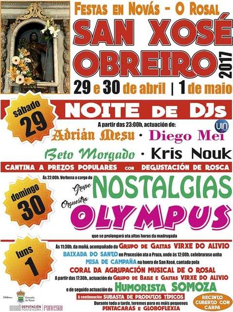 Infominho - As Festas de San Xosé Obreiro chegan esta fin de semana a Novás - O Rosal - INFOMIÑO - Informacion y noticias del Baixo Miño y Alrededores.